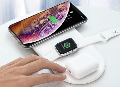 Беспроводное зу Baseus Smart 3in1 Wireless Charger For Phone+Watch+Pods(18W MAX)Black