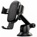 Автомобильный держатель Baseus Wireless Charger Gravity Car Mount(osculum type)Black